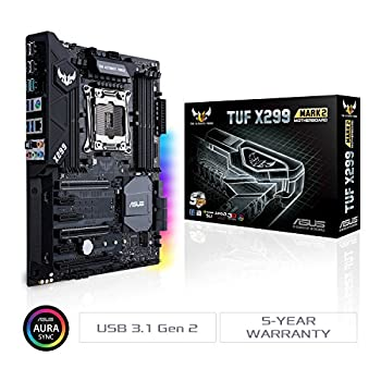 ASUS TUF X299 MARK 2 Scheda Madre LGA2066 ATX con DDR4 4000 MHz (OC), Dual M.2, Supporto Intel VROC, Intel Optane Memory Ready, Intel Gigabit LAN, USB 3.1 Gen 2