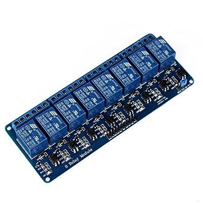 Modul 8-Kanal 5V Relay Schnittstelle für Arduino Pic AC250V 10A Mikrocontroller steuern verschiedene Geräte 50-60mA
