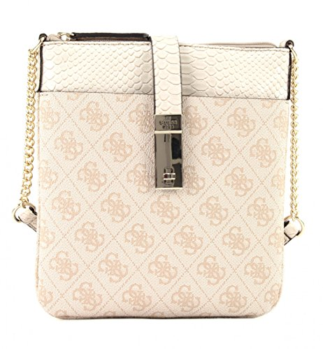 GUESS Nissana Mini Crossbody Top Zip Stone (Mini Mini Top Tasche Zip)