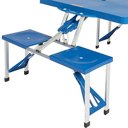 Tavoli Pieghevoli Da Mare.Bakaji Set Tavolo Tavolino Pieghevole Pic Nic Campeggio