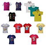 #10: KIDANIA Kids Boys and Girl's Cotton Summer Wear T-Shirt Animal Desing Printed Combo Pack (Random Color)