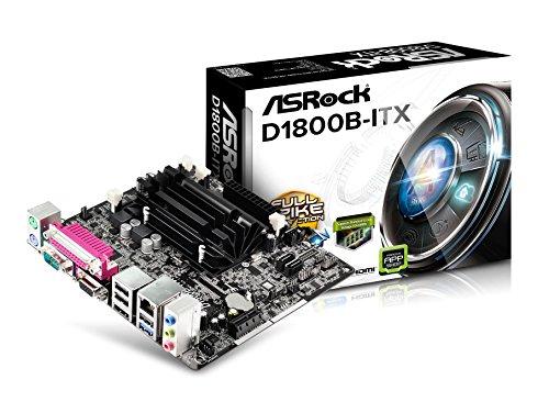 SRock D1800B-ITX Mainboard Sockel (micro-ATX, 2x DDR3 Speicher,SATA III, 3x USB 2.0)