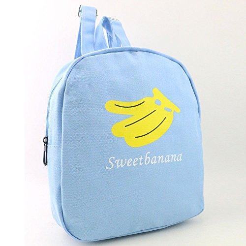 Longra Donne Zaino Moda Banana Anguria stampa Blu