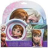 Disney Frozen 755790 - Melamin Set, 3-teilig, 2 Teller und 1 Becher, 27 x 7 x 28 cm
