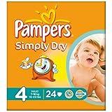 Pampers Simply Dry taille 4 (7 à 18 kg) Carry Paquet 6x24 Maxi par paquet