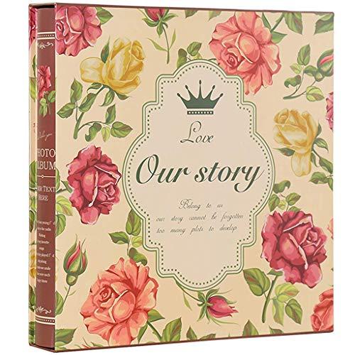WJSWX Fotoalbum Interstitial Boxed, große Kapazität 1200 gemischte Familie Babywachstum Buch Fotos Tourismus Liebe