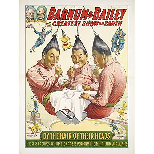 Strobridge Barnum Bailey Circus Aerialists Advert Art Print Canvas Premium Wall Decor Poster Mural Zirkus Werbung Wand Deko -