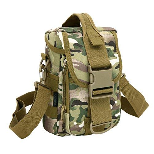 F@Impermeabile all'aperto Sport Kit, pacchetto giro auto uomini e donne, borse a tracolla verticale, tattico borsa a tracolla borsa impermeabile all'aperto, escursioni a piedi Kit, Digital Camo Borsa, cp camouflage