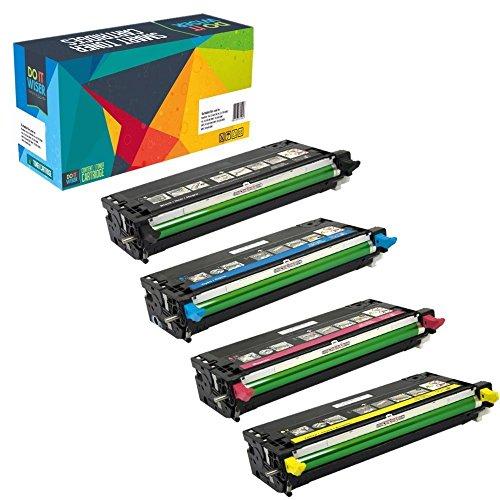 Do it wiser kompatible Toner als Ersatz für Dell 3110CN 3115CN 3110 3115 (4er-Pack)