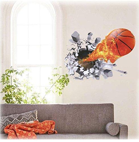 Kinder Wandtattoo Decor Fußball Fußball Basketball Größe 48cm x 66cm