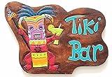 Wohnkult Tiki bar placca a muro da parete 40cm x 27cm Hawaii Südsee porta cartello in legno con scritta in tedesco