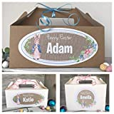 Personalised Peter Rabbit Easter Egg Gift Box Easter Egg Hunt Party Treat Box - 3 Designs