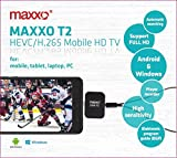Maxxo DVB-T2/T Mobile HD TV USB Tuner for Android Phones and Windows Laptop, PC - Real Full HD TV recevier H.265/H.264 – No Data nedded