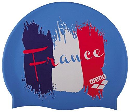 arena Badekappe Silikon Print 2, Herren, Herren, Silicona Print 2, Mehrfarbig (Flagge/Frankreich)