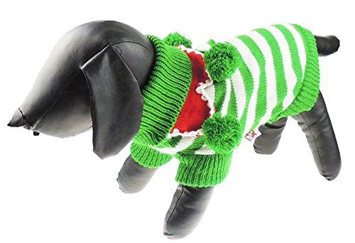 Liebenswürdig, Festive Hund Pom Pom Weihnachten Hund Pullover Jumper