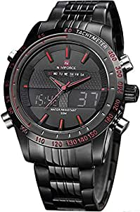 Naviforce Analog-Digital Black Dial Men's Watch-NF9024-BBR By LexXiv®