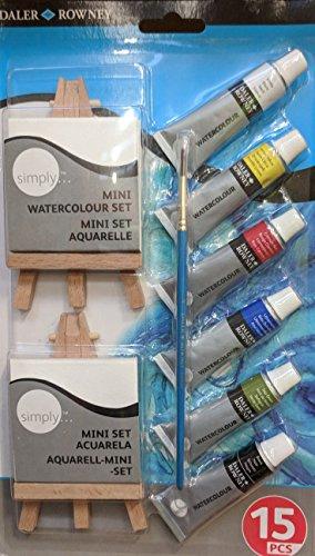 Daler-Rowney Simply Mini set d'aquarelle avec chevalet