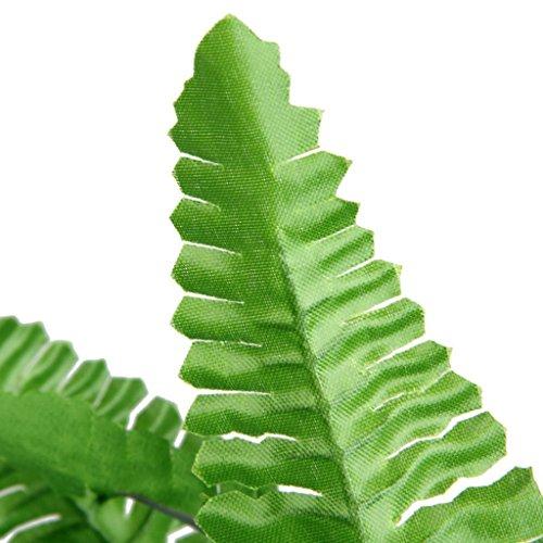 1 x Künstliche Farn Gras Kunststoff Pflanze Haus Tischdekoration Dekor Grün (2 Stück, grün)