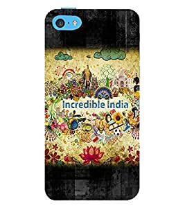 Incredible India 3D Hard Polycarbonate Designer Back Case Cover for Apple iPhone 5C