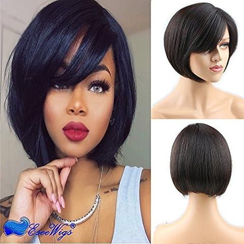 Eseewigs court Bob cheveux humains perruques avec Mono Net 100% brésiliens Virgin Remy cheveux humains perruque courte complète pour les femmes 10 inch