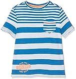 s.Oliver Jungen T-Shirt Kurzarm, Blau (Blue Stripes 55G8), 128 (Herstellergröße: 128/134)