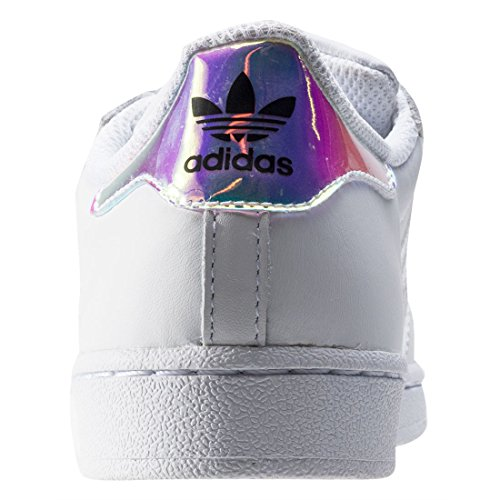 Adidas Originals Superstar Junior White Leather Trainers white
