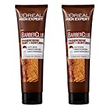 L'Oréal Men Expert Barber Club Rasiercreme, für Bart-Konturen durchsichtige Textur für akkurate und präzise Rasur dank guter Sicht Zedernholzöl (2 x 150 ml)