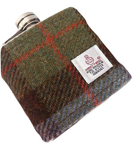 Harris Tweed Flachmann, Hunting MacLeod, Karomuster, in Schottland von Hand...