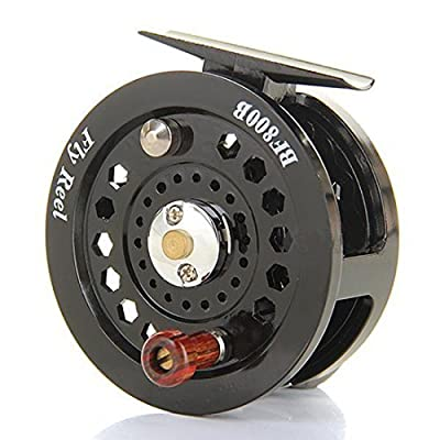 ELENXS Fly Fishing Reels Reel Freshwater Loop Right Left Handed Black by HOOBO