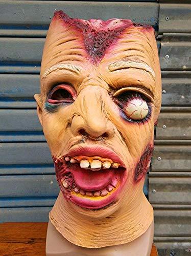 Littlefairy Maske,Halloween Zombie Maske Perücke Gehirn Knochenmark Horror Alien Zombie Latex Perücke