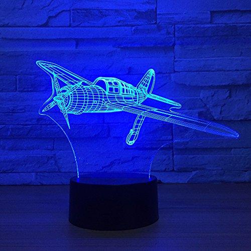 Kjfgkf @ 3D Nachtlicht 3D Flugzeug Modell Acryl Led Nachtlicht Touch Jet Flugzeug Tischlampe Led Kinder Nachttischlampe (215 Batman)