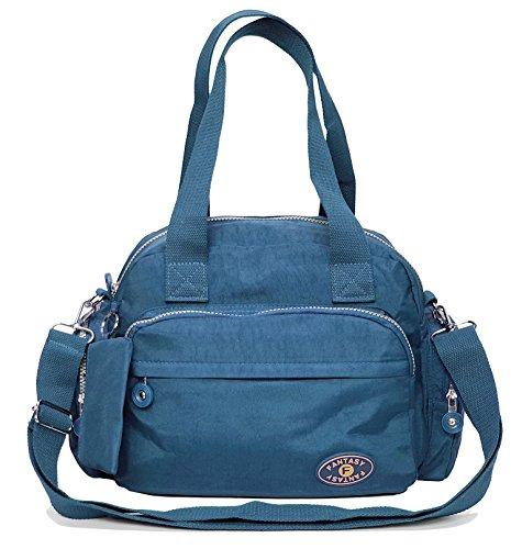 GFM Fashion , Borsa Messenger  Bambine e ragazze Uomo Donna Bambini e ragazzi Style 1 - Jeans Blue (601JNSNL)