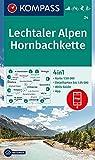 Lechtaler Alpen, Hornbachkette: 4in1 Wanderkarte 1:50000 mit Aktiv Guide und Detailkarten inklusive Karte zur offline Verwendung in der KOMPASS-App. ... Langlaufen. (KOMPASS-Wanderkarten, Band 24)