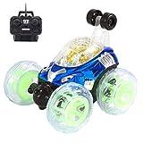 Omiky® Neue 360 ° Spinnen und Flips mit Farbe Flash & Musik für Kinder Fernbedienung LKW (Blau)