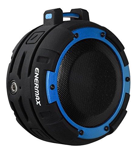 Enceinte Bluetooth LED étanche IPX8 ENERMAX O'MARINE EAS03-BB Noir/Bleu - Waterproof, résiste 3 mètres sous l'eau Pendant 2 Heures - 10 Heures d'autonomie