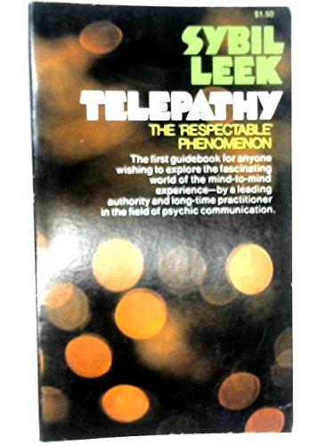 Telepathy: The Respectable Phenomenon [Paperback] by Leek, Sybil