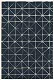 Linon Wolle Dreieck Creme Synthetische Teppiche, blau, 2X 3