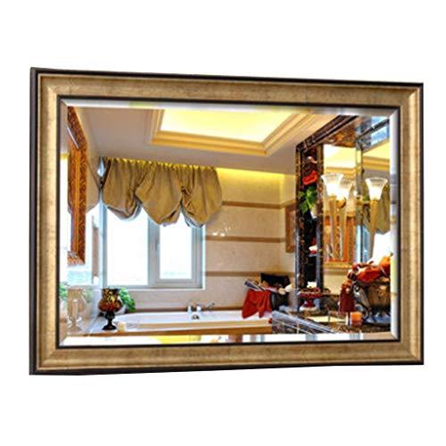 Miroirs Mural en Argent Doré De 5 Mm Mural Européen (Color : Gold, Size : 50x70cm)