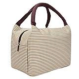 Portatile Pranzo Borsa Termica Lunch Box Portatile Fredda Borsa Termica Pranzo Tote Cooler Bag Porta Pranzo per Uomo e Donna (Cachi)