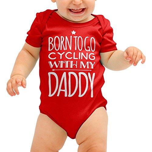 fahren mit meinem Papa Babygrow Cute Fahrrad Baby Anzug Wachsen Body Romper Jungen Mädchen Dusche Geschenk (Halloween-dekoration-clearance Sales)