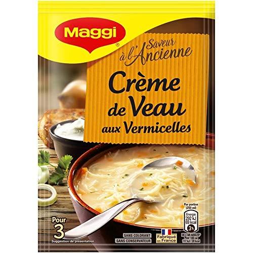 Maggi - Soupe Creme De Veau Aux Vermicelles 58G - Lot De 5 - Livraison Rapide en France - Prix Par Lot
