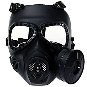 Tactique de jeu Airsoft visage Sécurité Protection Masque Garde Toxique Masque à gaz CS