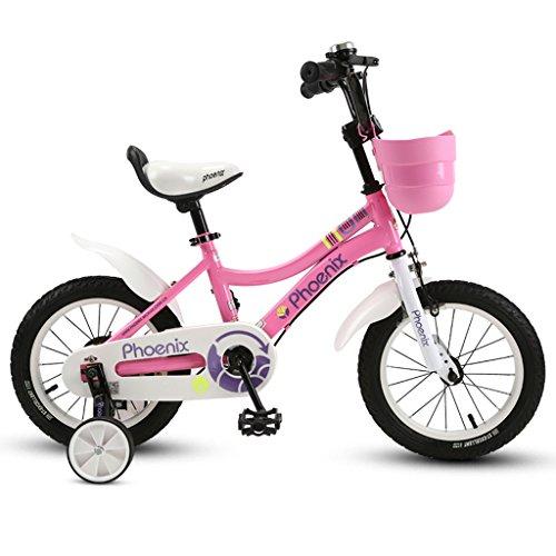 (Kinderfahrrad, Kinderfahrrad, 3-10 jähriges Mädchen-Radfahren, Rosa ( Size : 14 inch ))
