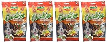Riga Chick'os 8 Filet de Poulet + Stick Mini pour Chien 65 g - Lot de 4