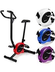 Hop-Sport Heimtrainer RIO Fitnessbike mit Computer stufenlose Widerstandsregulierung belastbar bis 120 kg
