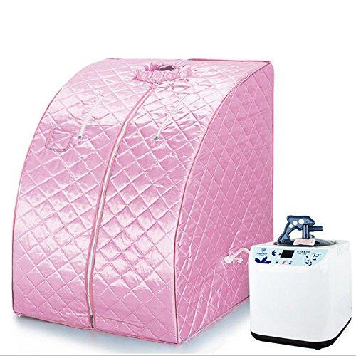 Mobile Dampfsauna Heimsauna Sauna Wärmekabine Sitzsauna Saunakabine (Rosa)