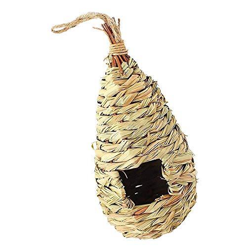 Fliyeong Creative Bird Nest Straw Bird House Künstliche Vogel Nest Garten Ornament Geeignet für Alle Vogel -