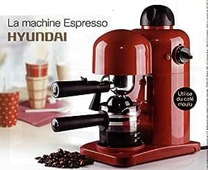 CAFETIERE EXPRESSO CAPPUCINO HYUNDAI 3.5 BARS 800W