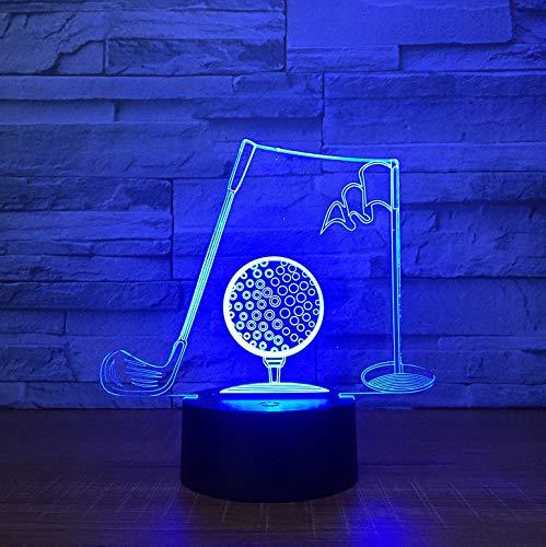 Golf 7 Farben Ändern Nacht Lampe Led Sport 3D Tischleuchte Für Kinder Schlaf Lampe Wohnkultur Kunst Dekor Geschenke Für Papa Mann