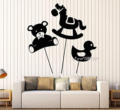 Ente Spielzeug Wandaufkleber Dekor Baby Kinderzimmer Tiere Kindergarten Wandtattoo DIY Selbstklebende Tapete Wandbild S42X43 cm ()